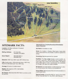 A topigraphic trail map of the Sitzmark ski area